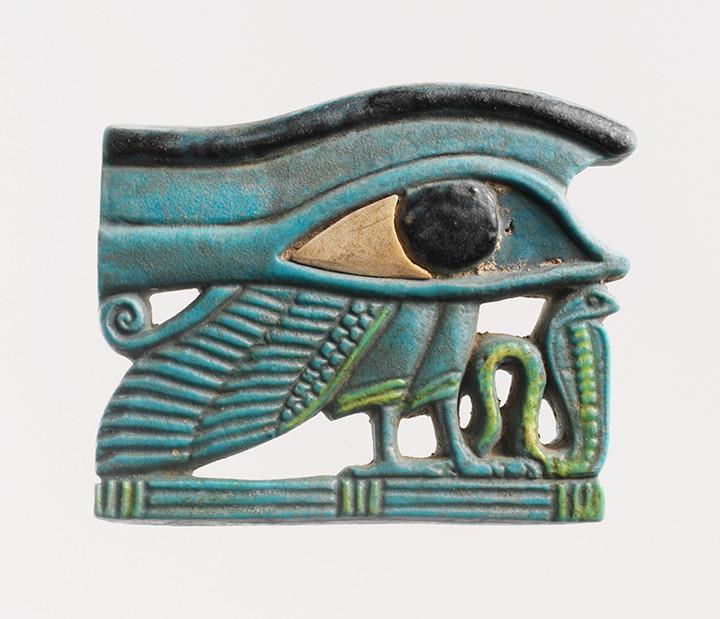 Egyptian Eye of Horus amulet.