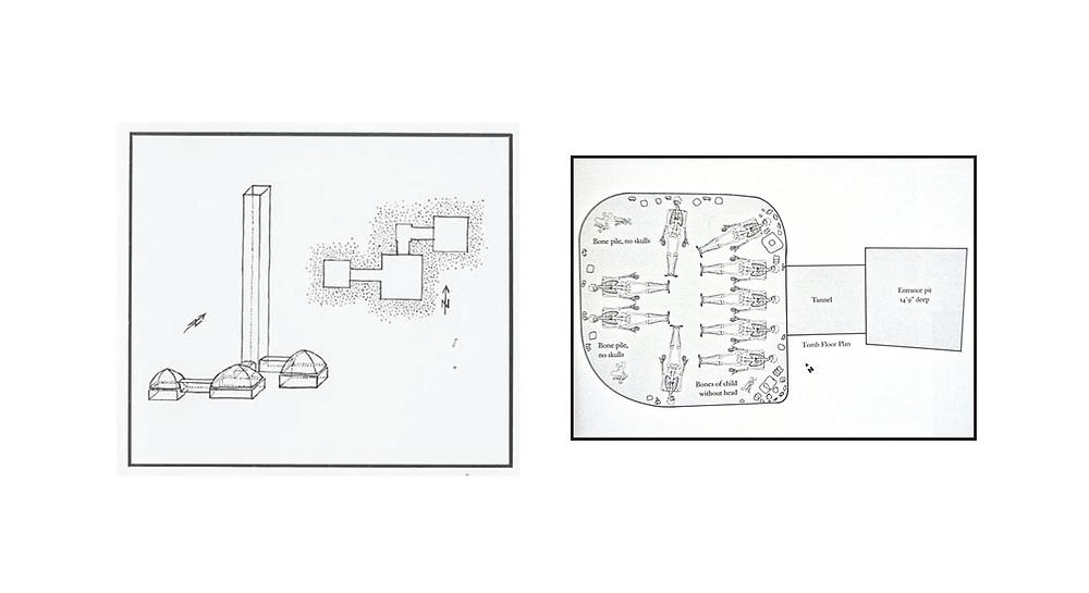 Diagram of Jalisco Pre-Columbian shaft tomb.