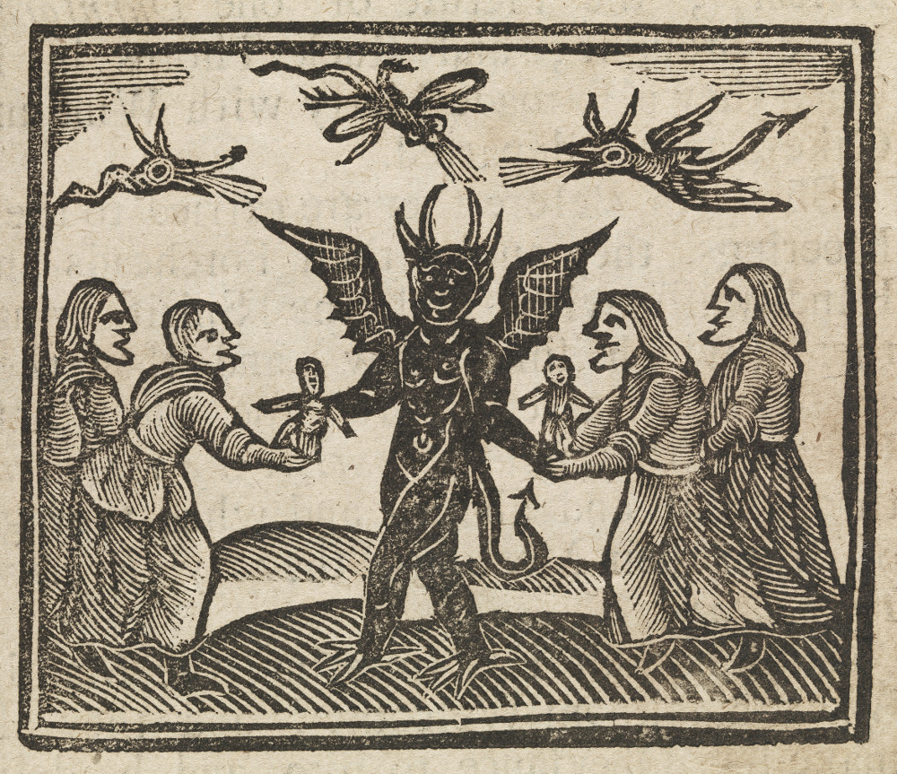 "Woodcut from ""The History of Witches and Wizards"" 1720"