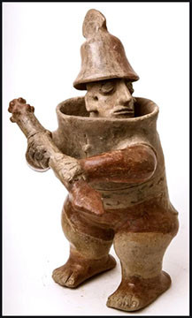 Jalisco warrior figure.