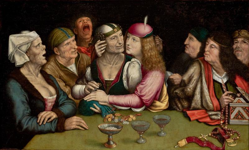 "Quentin Matsys, 1525–1530, Oil on panel, 21"" h ×35"" w, São Paulo Museum of Art, Brazil"