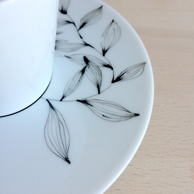 Tasse - Motif floral - détail 2