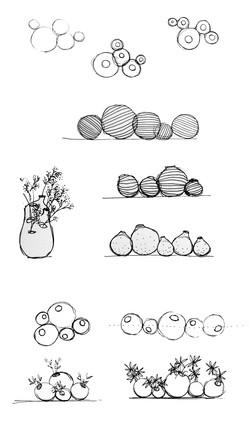 vase de Violette-croquis
