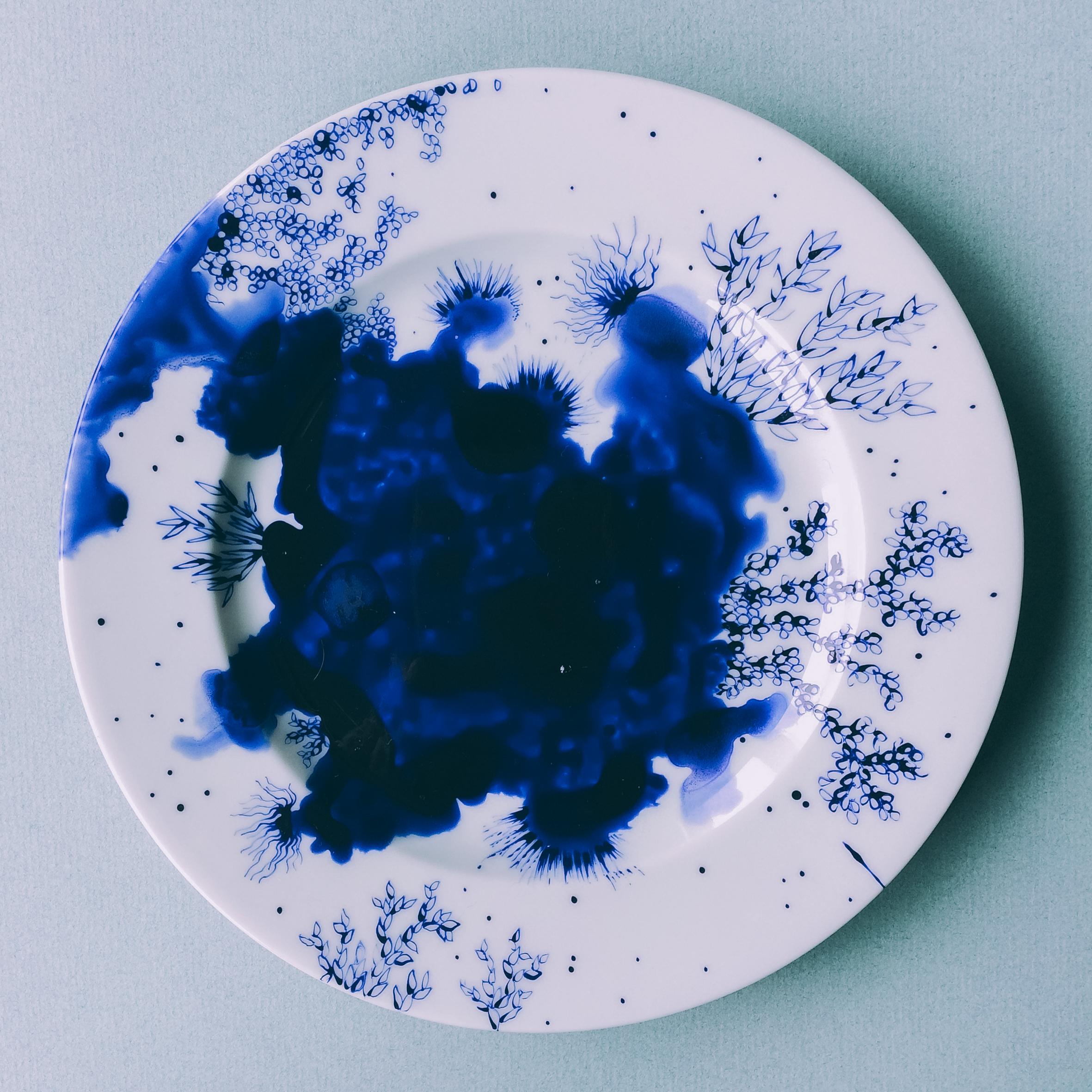 """Assiette """"Bleu de Delft"""" 3"""