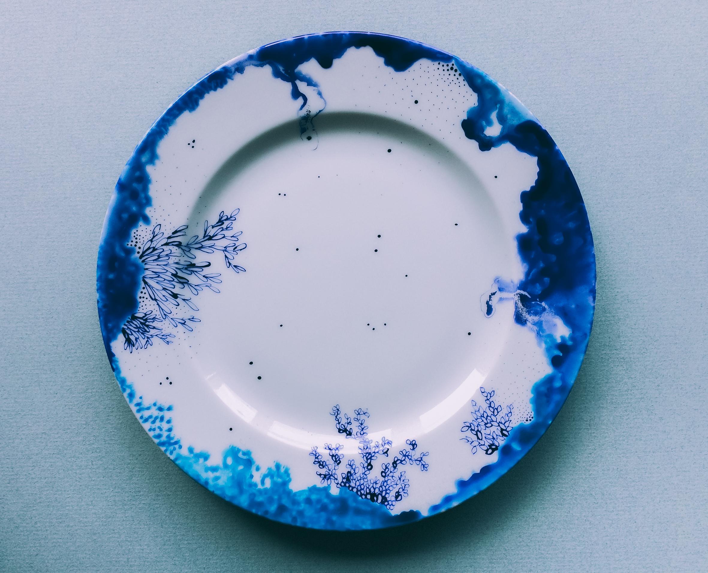 """Assiette """"Bleu de Delft"""" 1"""