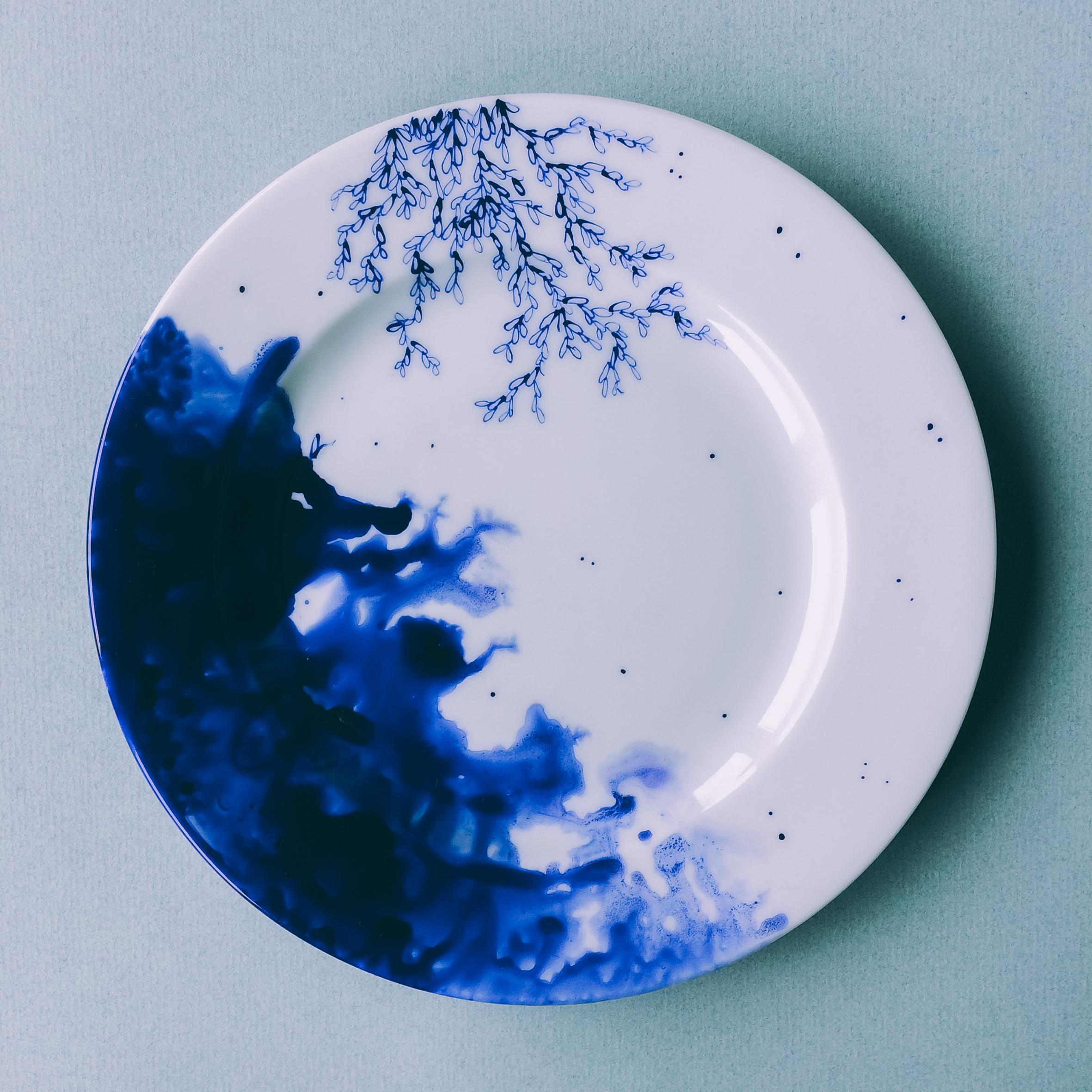 """Assiette """"Bleu de Delft"""" 2"""