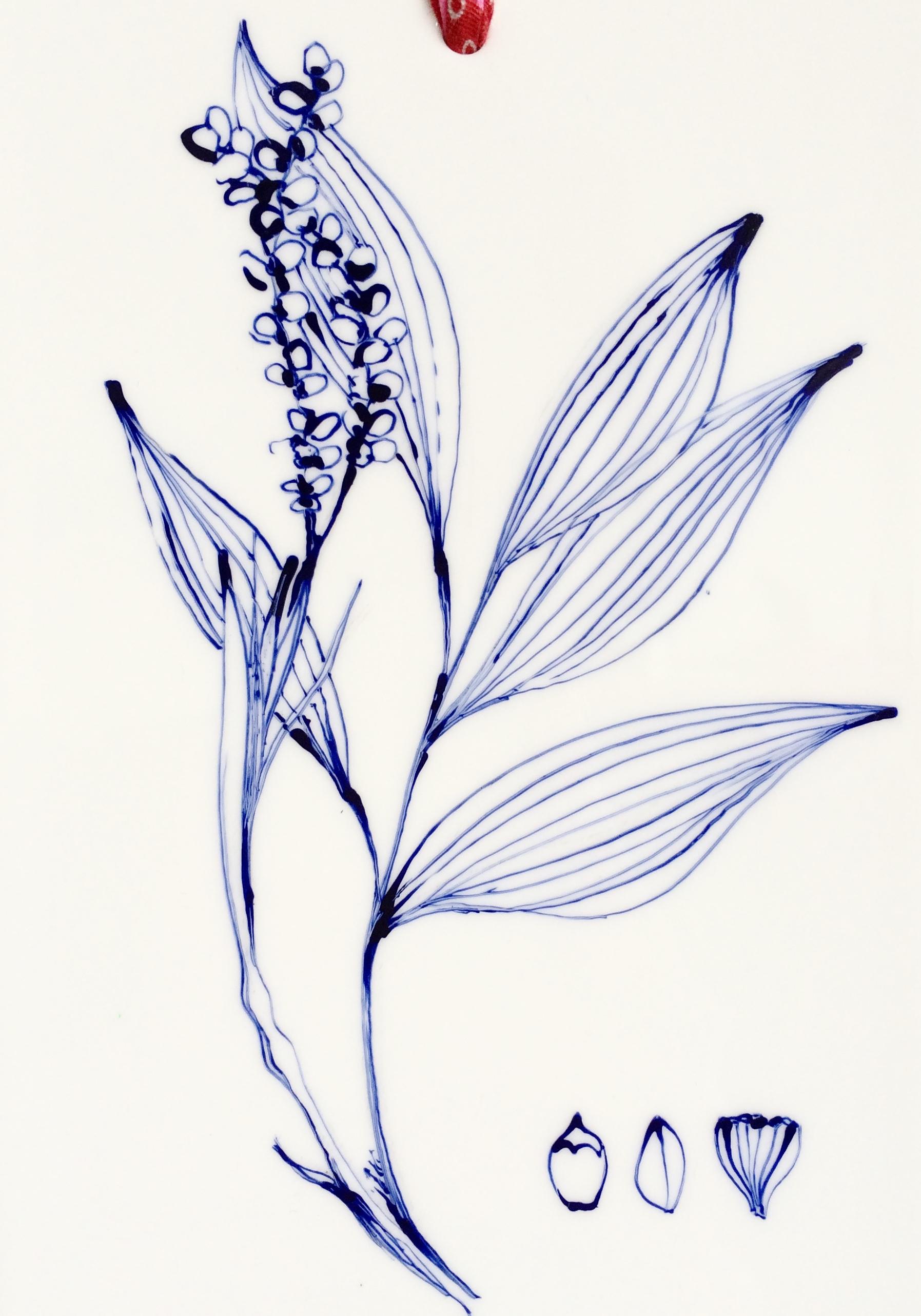Plaque décor végétal 2 - détail