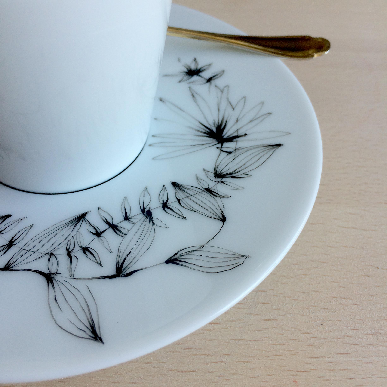 Tasse - Motif floral - détail 1