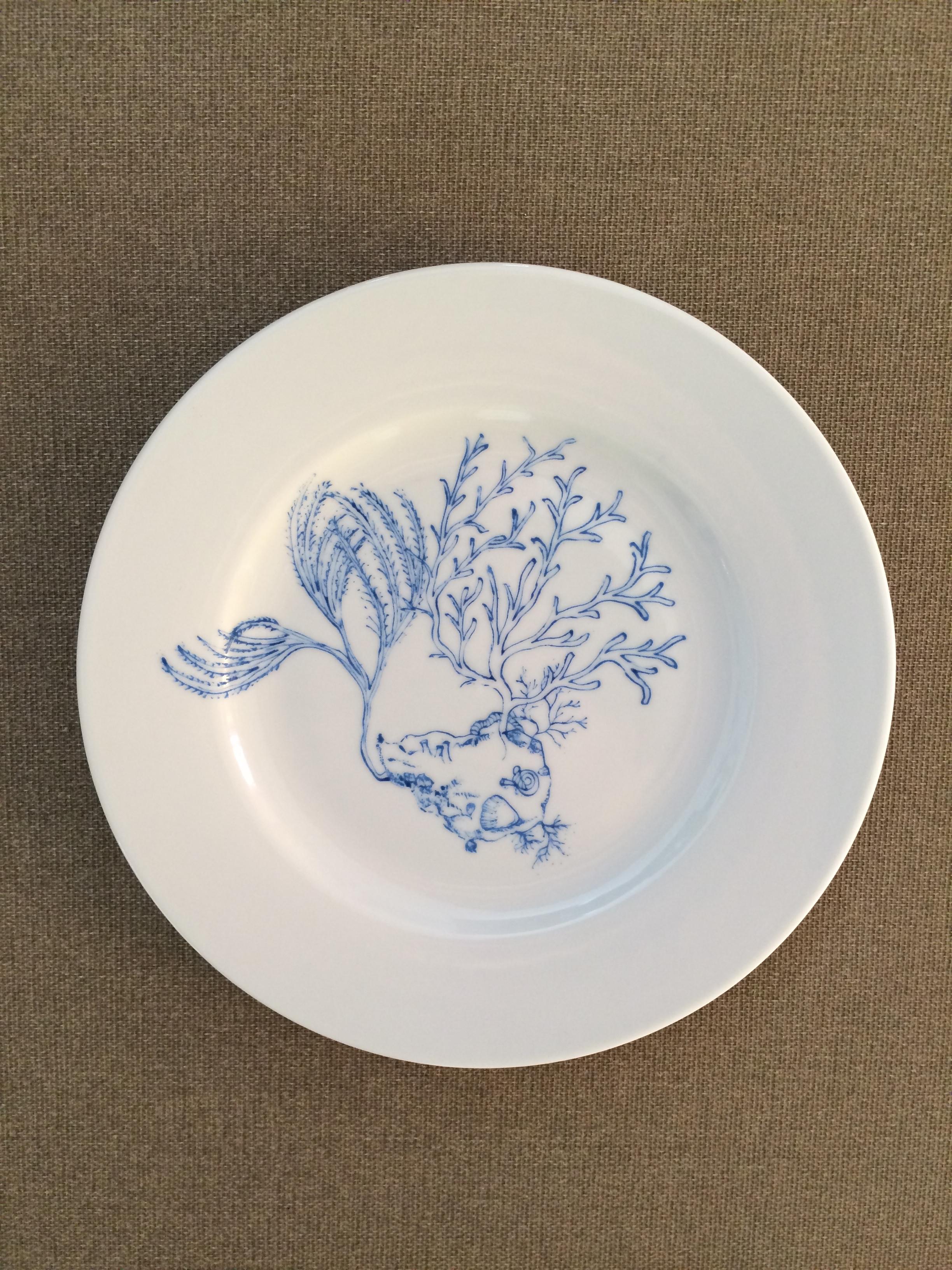 """Assiette décor """"Algues"""""""