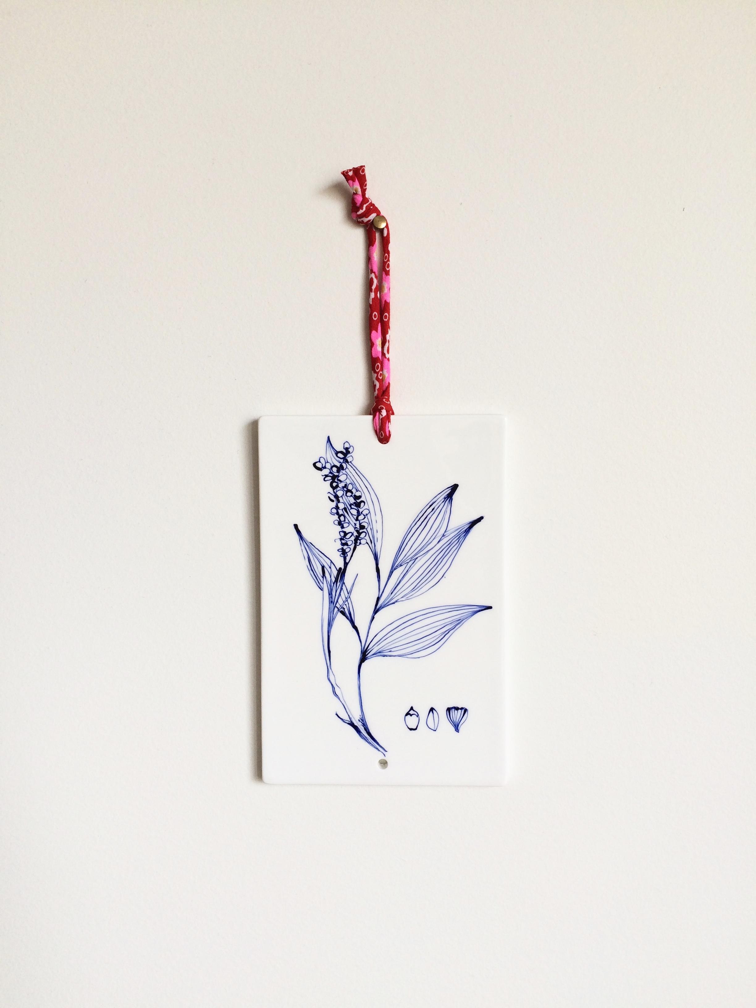 Plaque décor végétal 2