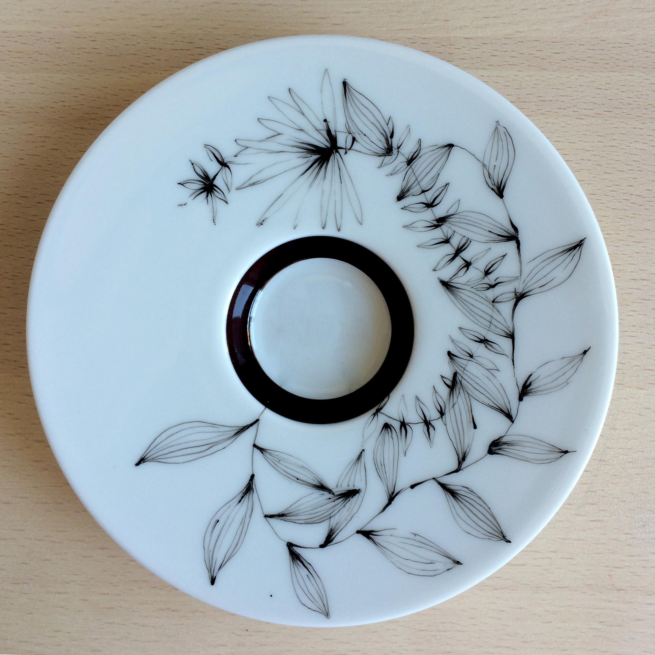 Sous-tasse - Motif floral