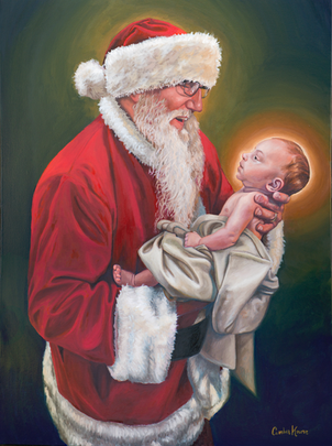 Santa and The Christ Child