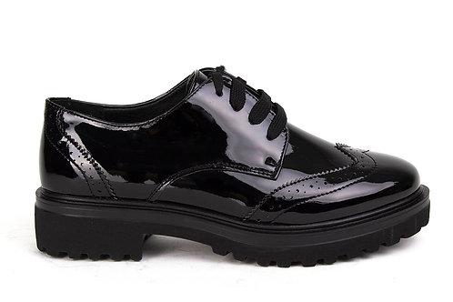 Zapato Mujer New Walk Negro Wingtip