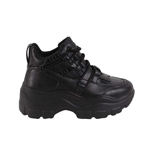 Zapatilla Mujer New Walk Ferrara Black