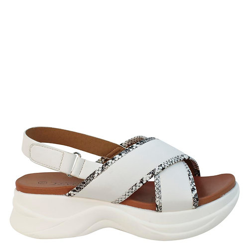 Sandalia New Walk White Snake