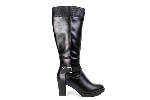 Bota New Walk Hebilla y Textura Negra