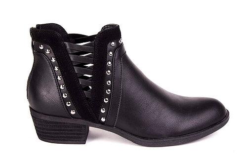 Botín New Walk Tachas black