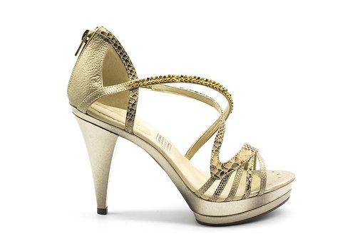 Zapato Exs Cuero Dorado