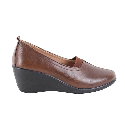 Zapato Mujer New Walk Luz Camel