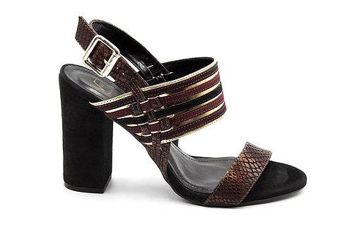 Zapato Versace Burdeos Cuero