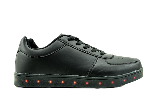 Zapatilla Negra New Walk Luces
