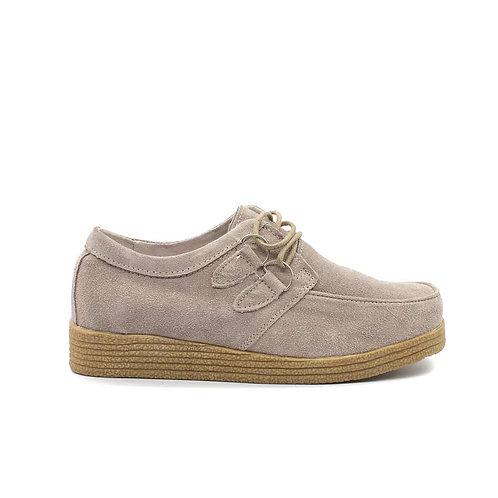 Zapato Nat Geo Cuero Beige