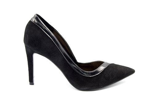 Zapato Versace Negro Cuero