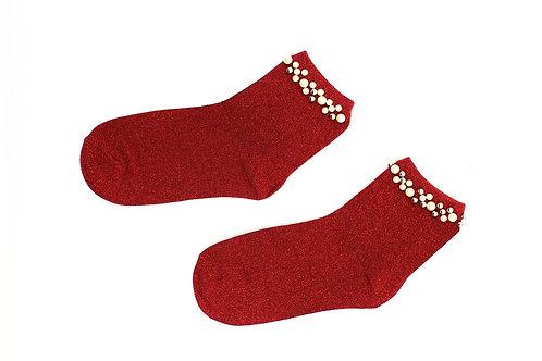 Calcetín Rojo Brillante