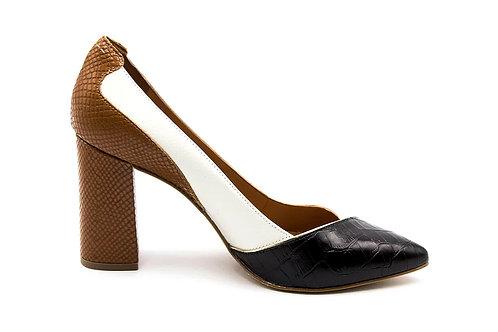 Zapato Versace 1969 Tricolor Cuero