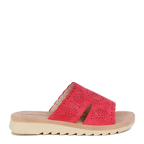 Sandalia New Walk Troquelada Corte Red
