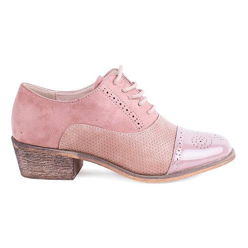 Zapato New Walk Wingtip Rosa