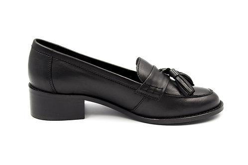 Zapato Exs Cuero Negro