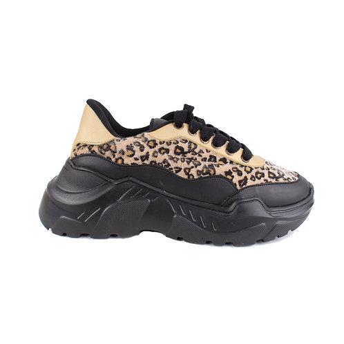 Zapatilla Exs Plataforma Leopardo