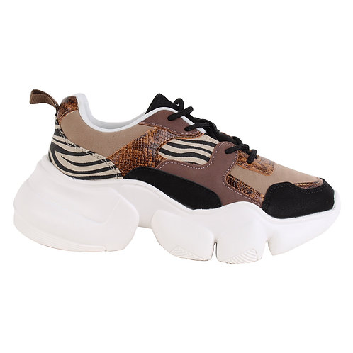 Zapatilla New Walk Cebra Coffee