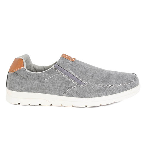 Zapatilla New Walk Gris Costuras