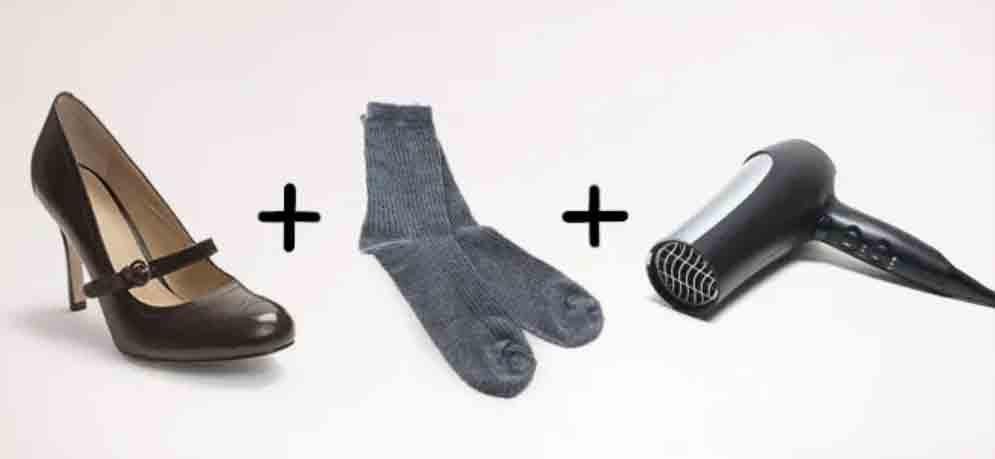 método para agrandar zapatos