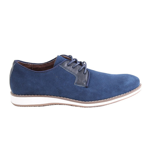 Zapato Nat Geo Azul Cuero