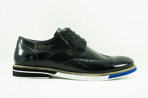 Zapato Polo Club Negro Cuero