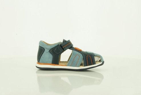 Sandalia Osito Cuero Bicolor