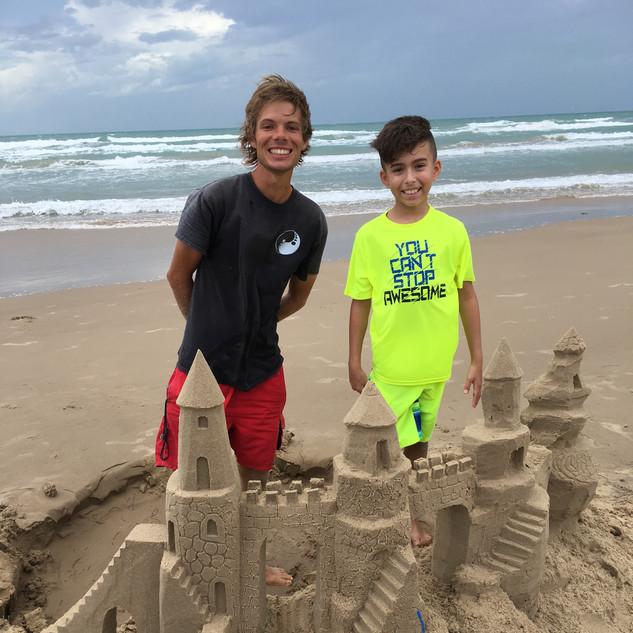 Sand castle lesson