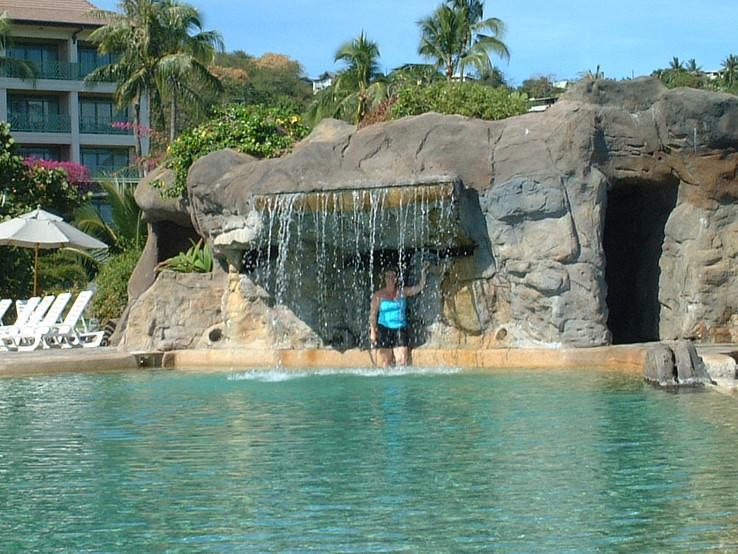 Swimming pool at the Sheraton in Tahiti