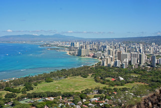 Honolulu from Diamond Head, Oahu
