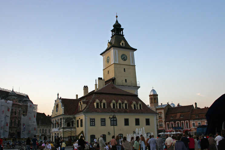 Council House and Trumpeter's Tower, Braşov