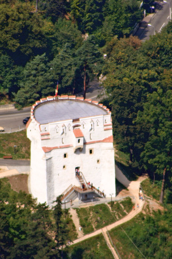 White Tower, Braşov from atop Mt. Tâmpa.