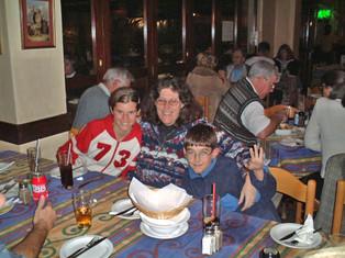 Family Dinner in Durban - Mandy, Carol & Matthew