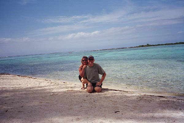 Self portrait on a lonely stretch of beach, Moorea