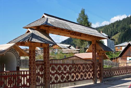 Decorated gates of the Maramureş region