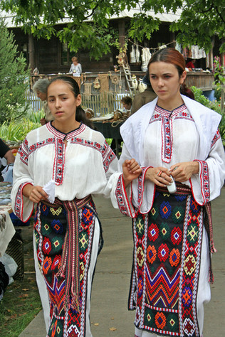 Young girls in typical costume