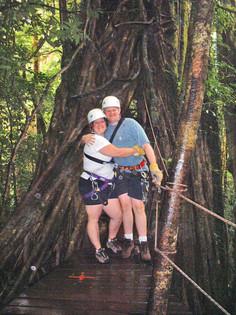 In front of giant strangler fig tree