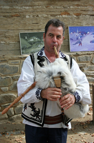 Bagpipe made from an entire goat (legs and all)